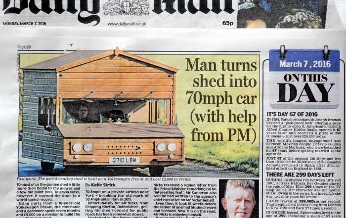 DAILY MAIL SHED